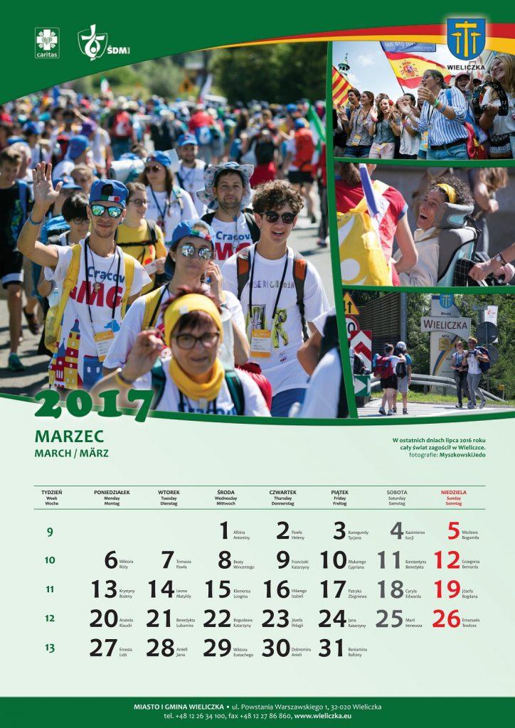 Kalendarz ŚDM na rok 2017