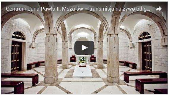 transmisja mszy św. w dniu urodzin JPII-sanktuarium-Jana-pawła-II-kraków