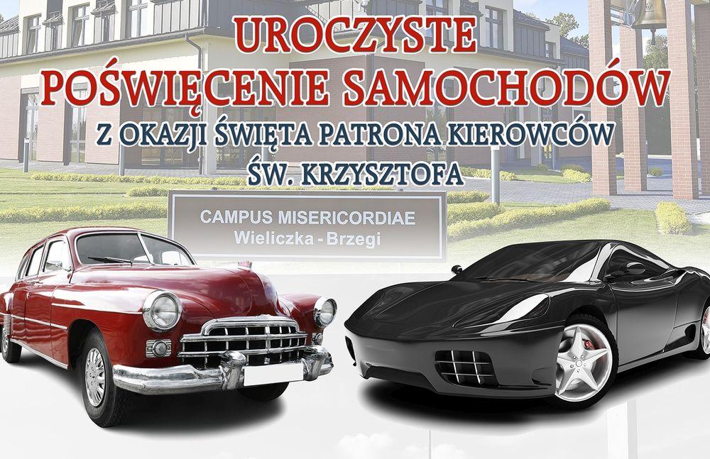 Uroczyste poświęcenie samochodów na Campus Misericordiae