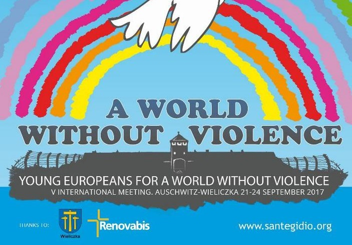 """V. Międzynarodowe Spotkanie Młodych - """"Młodzi Europejczycy dla Świata bez przemocy"""" w Wieliczce, Young European for a world without violence Auschwitz-Wieliczka"""