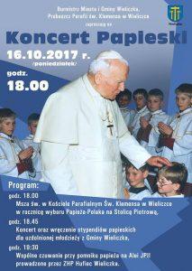 Koncert Papieski w Wieliczce 2017