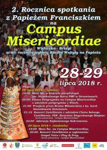 2. Rocznica spotkania z Papieżem Franciszkiem na Campus Misericordiae 2. Rocznica Światowych Dni Młodzieży 2016