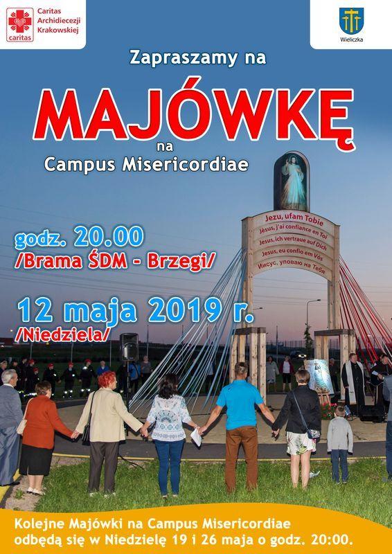 nabozenstwo majowe 2019 na Campus Misericordiae Wieliczka - Brzegi